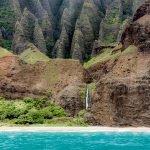 Na Pali Coast Waterfall by Davin Phelps