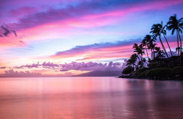Napili Bay Sunset by Davin Phelps