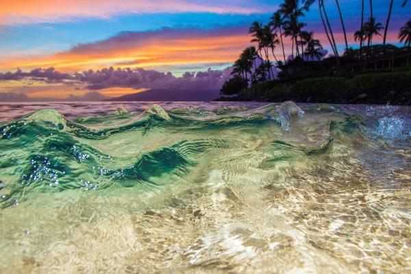 Napili Wave Sunset by Davin Phelps