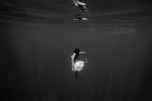 Underwater Ballet Black & White by Davin Phelps