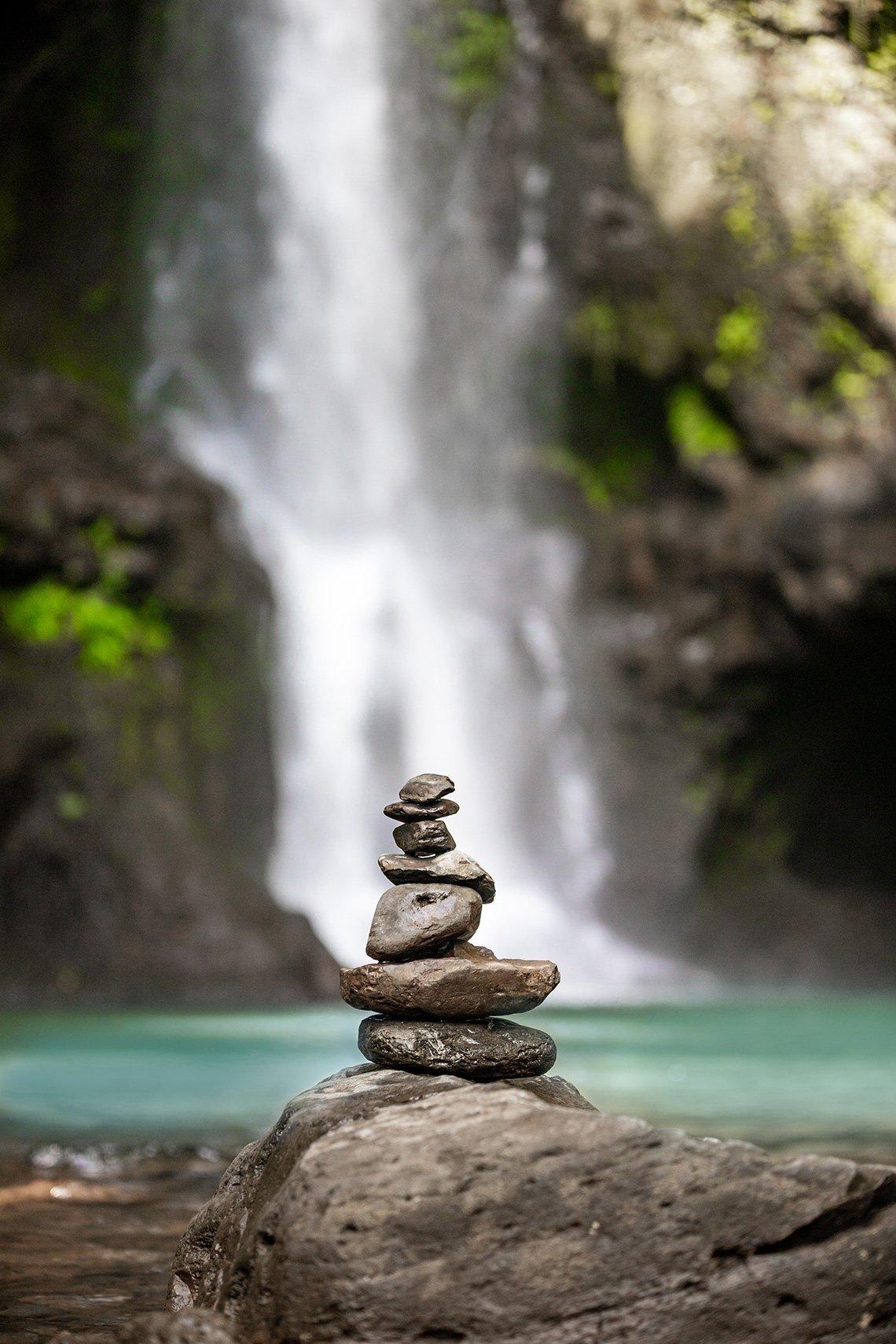 Zen Waterfall Balance by Davin Phelps