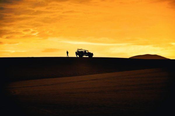Sandscape in Peru by Mike Leonard
